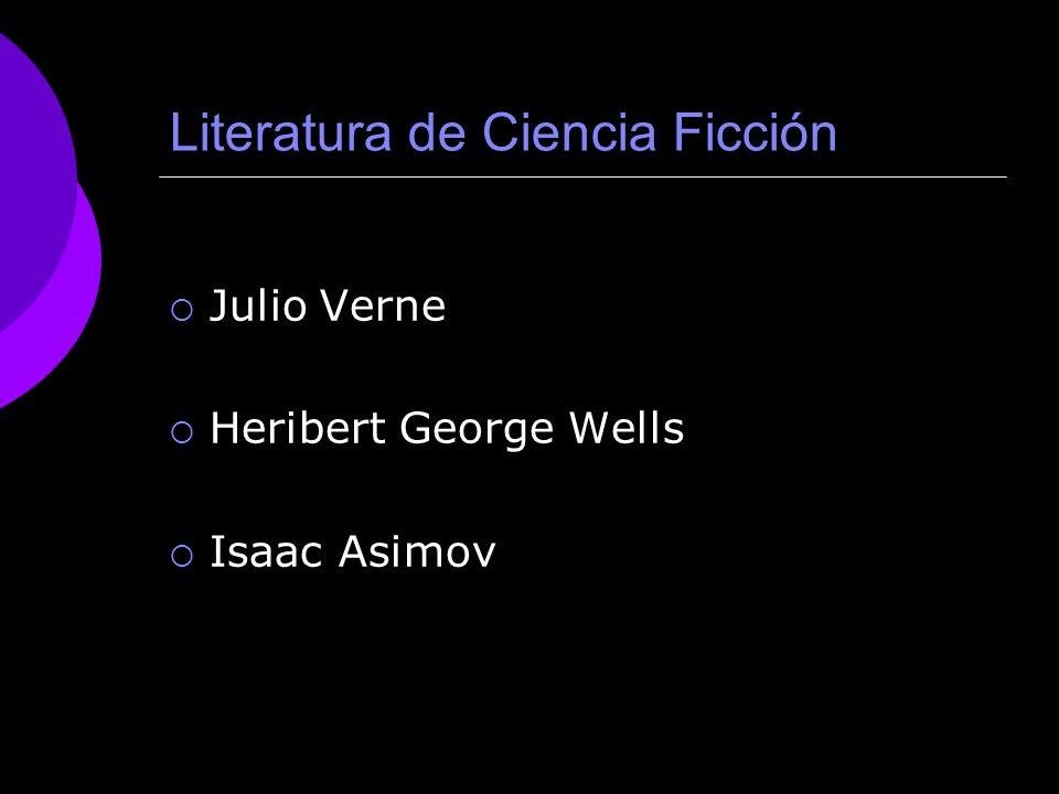 LITERATURA DE CIENCIA FICCIÓN PRINCIPAL AUTOR