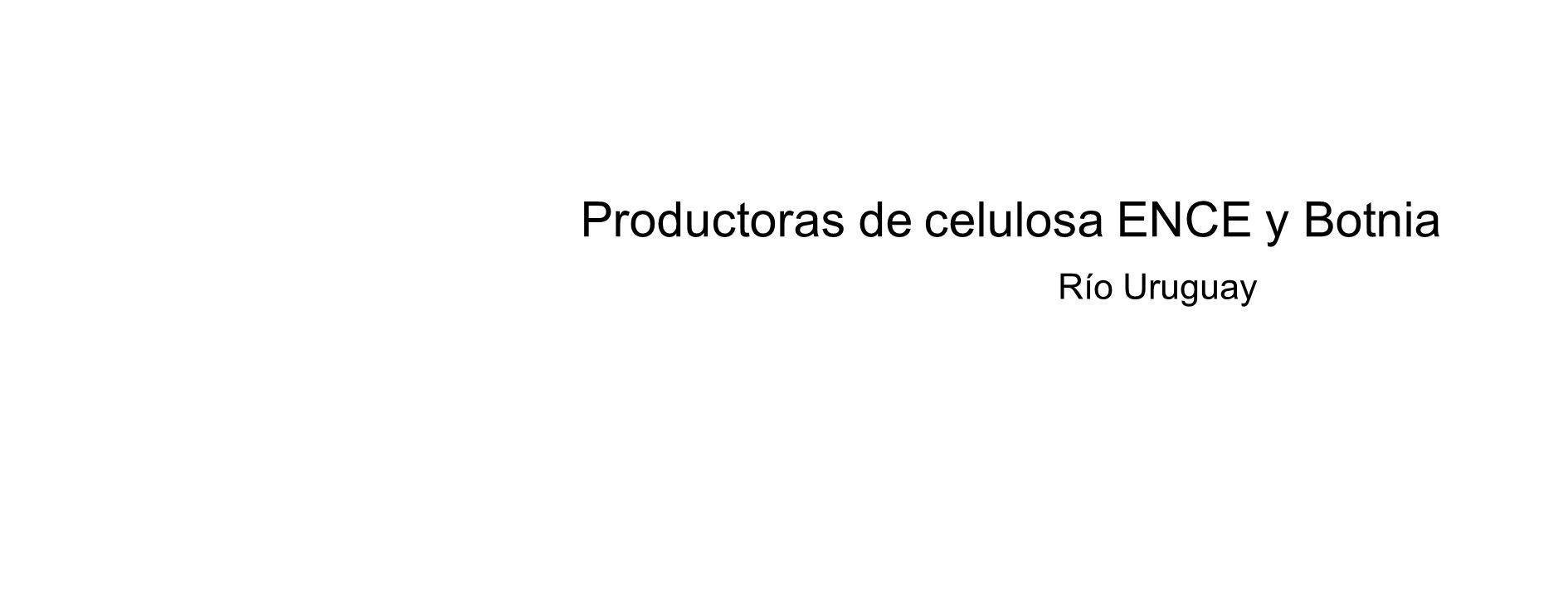 Productoras de celulosa ENCE y Botnia Río Uruguay