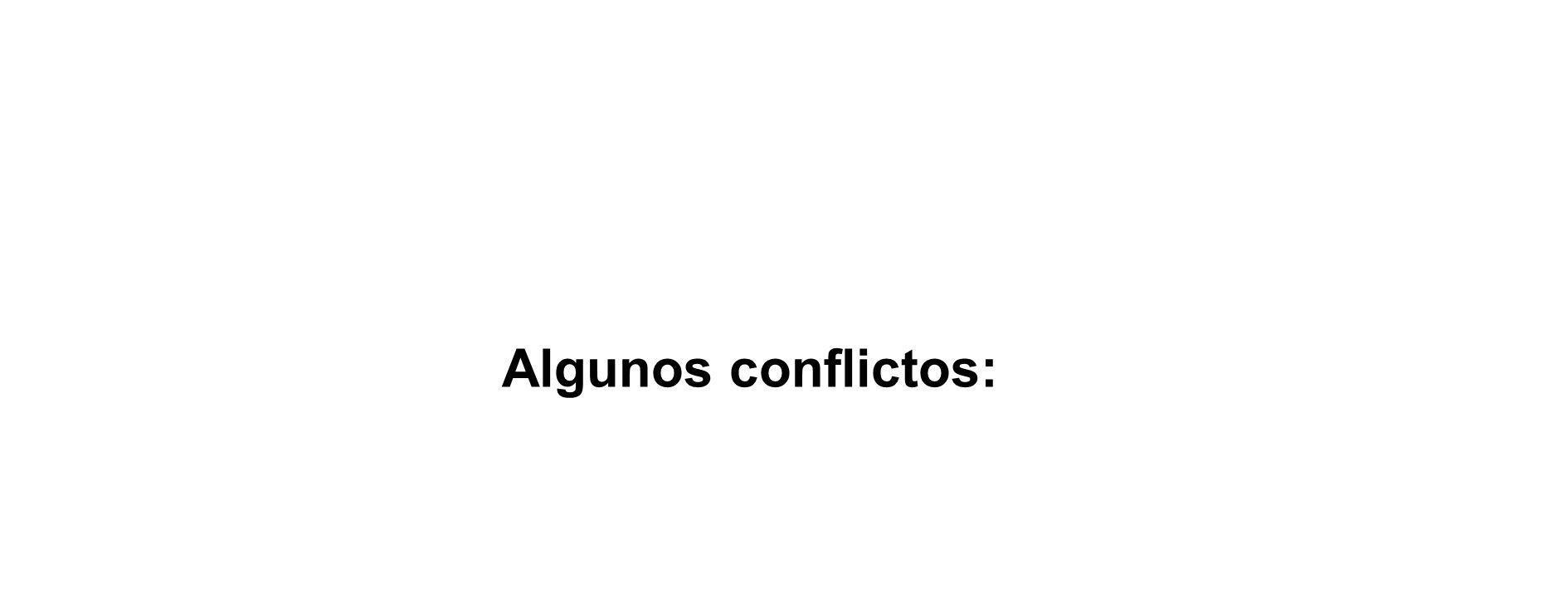 Algunos conflictos: