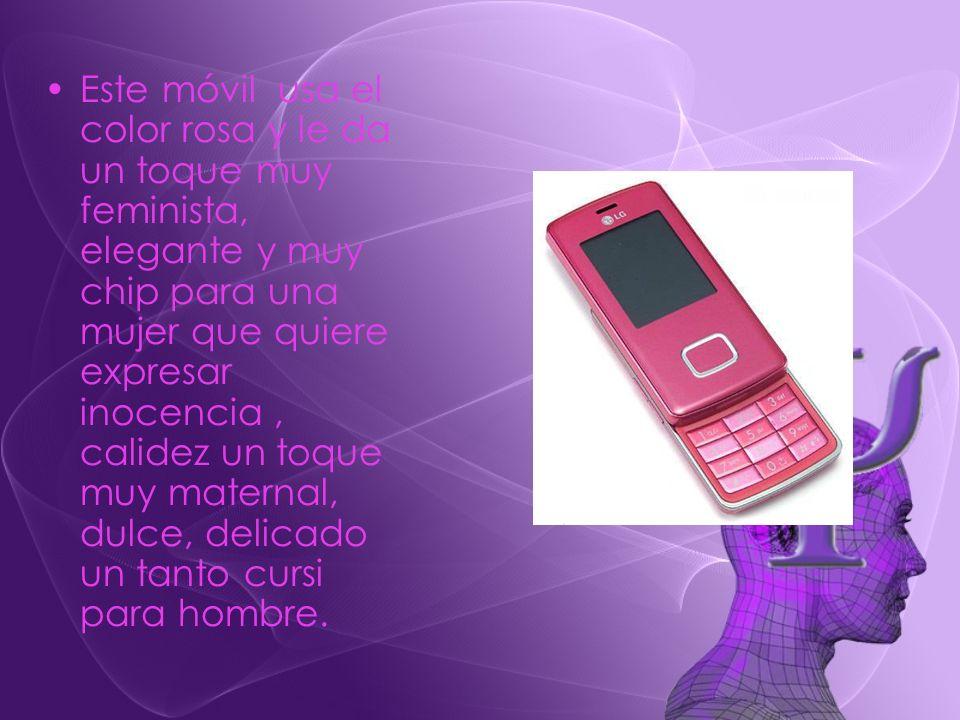 Este móvil usa el color rosa y le da un toque muy feminista, elegante y muy chip para una mujer que quiere expresar inocencia, calidez un toque muy ma