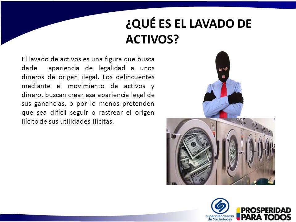 ¿QUÉ ES EL LAVADO DE ACTIVOS? El lavado de activos es una figura que busca darle apariencia de legalidad a unos dineros de origen ilegal. Los delincue