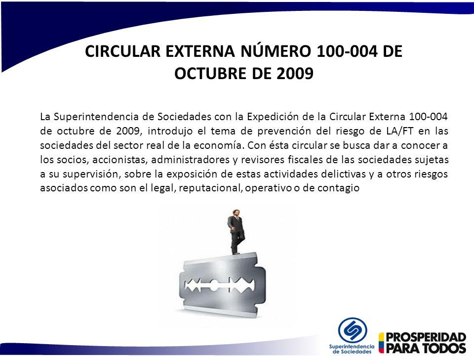 CIRCULAR EXTERNA NÚMERO 100-004 DE OCTUBRE DE 2009 La Superintendencia de Sociedades con la Expedición de la Circular Externa 100-004 de octubre de 20