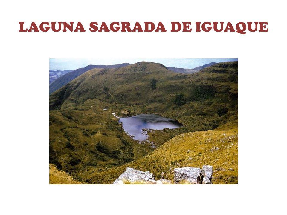 MONTAÑA VIGOROSA La laguna de Iguaque, es la mas importante para el pueblo Muisca, ya que de ese lugar nació Bachue, su hijo, y de ellos toda la humanidad.