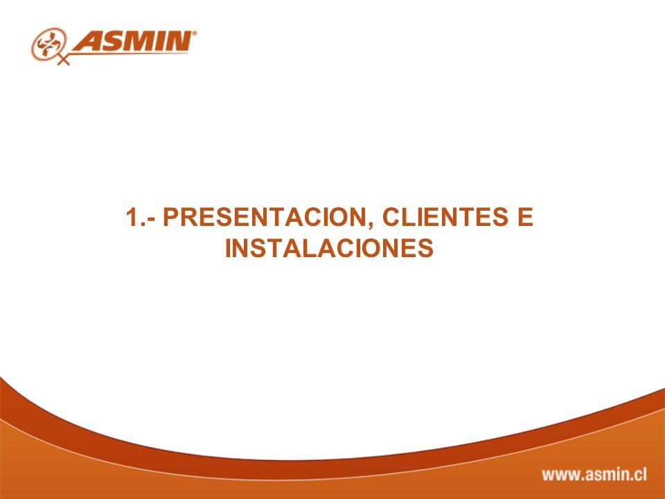 1.- PRESENTACION, CLIENTES E INSTALACIONES