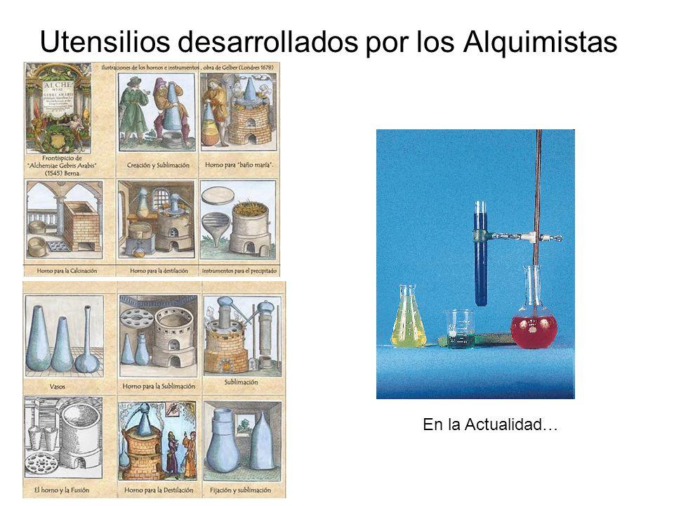Utensilios desarrollados por los Alquimistas En la Actualidad…