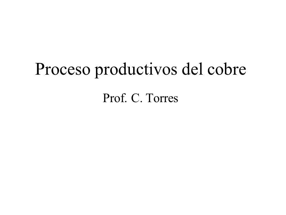 Proceso productivos del cobre Prof. C. Torres