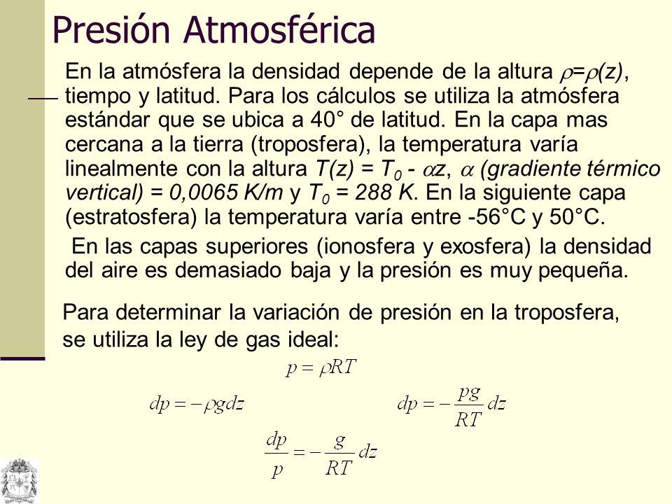 Si se utilizan condiciones estándar, se ve que p/p atm = 0,999 con z = 10 m.