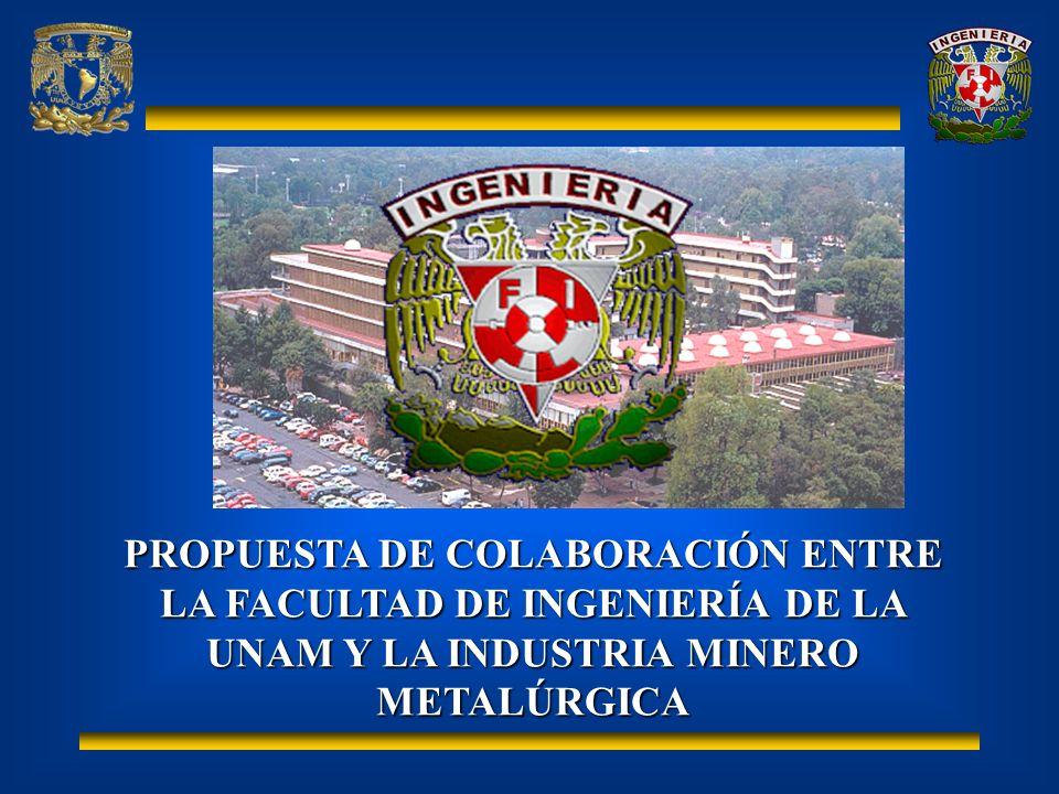 La División de Ingeniería en Ciencias de la Tierra de la Facultad de Ingeniería de la UNAM : Ofrece la carrera de Ingeniería de minas y metalurgia, fundada en 1792; es la primer Ingeniería en América Latina.Ofrece la carrera de Ingeniería de minas y metalurgia, fundada en 1792; es la primer Ingeniería en América Latina.