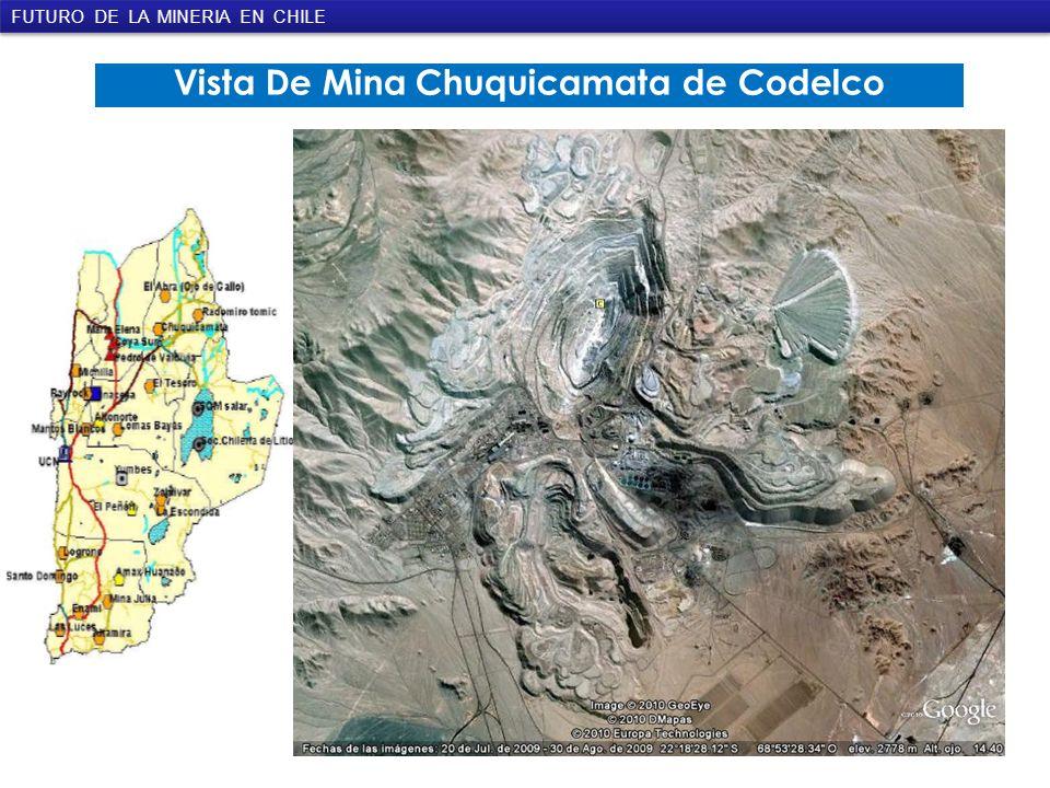Vista De Mina Chuquicamata de Codelco FUTURO DE LA MINERIA EN CHILE