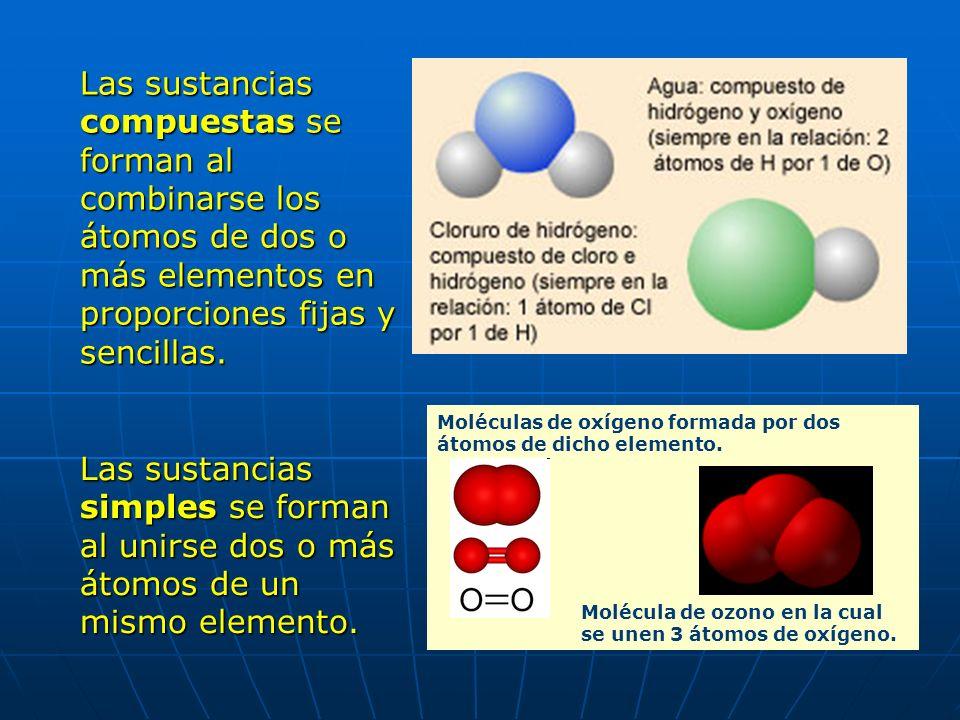 Los distintos elementos químicos se unen, combinan, entre si y forman las distintas sustancias que conocemos. Las diferentes estructuras que conforman