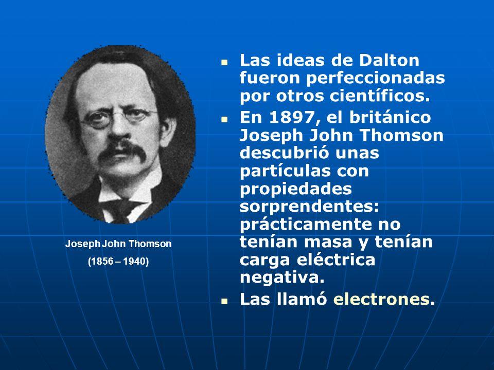 La imagen del átomo expuesta por Dalton en su teoría atómica, para explicar las leyes de la Quimica, es la de minúsculas partículas esféricas, indivis