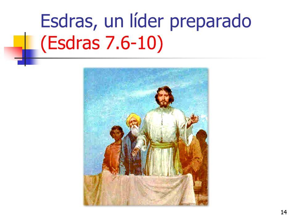 Esdras, un líder preparado (Esdras 7.6-10) 14