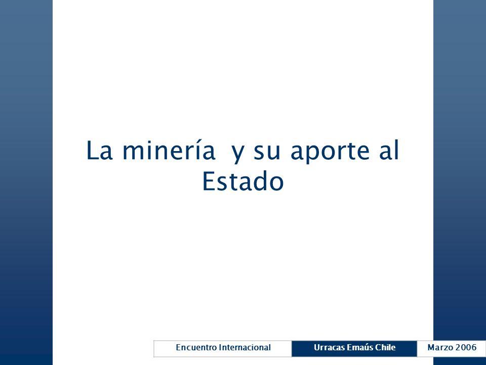 Encuentro InternacionalUrracas Emaús ChileMarzo 2006 La minería y su aporte al Estado