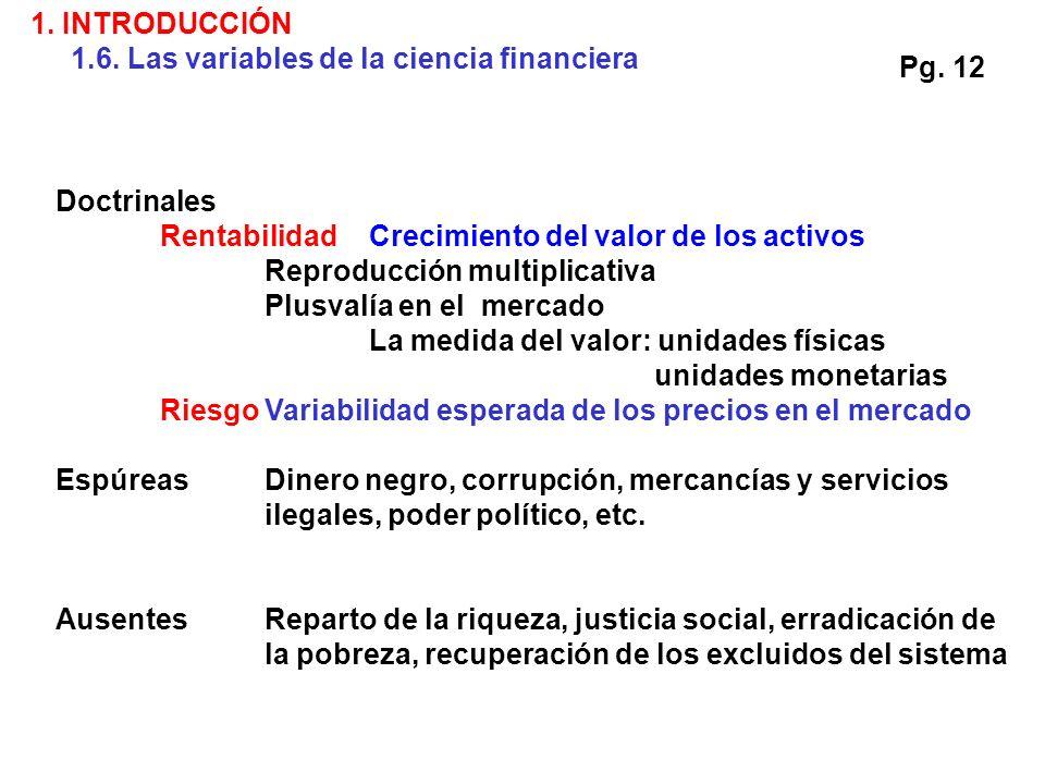 Doctrinales RentabilidadCrecimiento del valor de los activos Reproducción multiplicativa Plusvalía en el mercado La medida del valor: unidades físicas