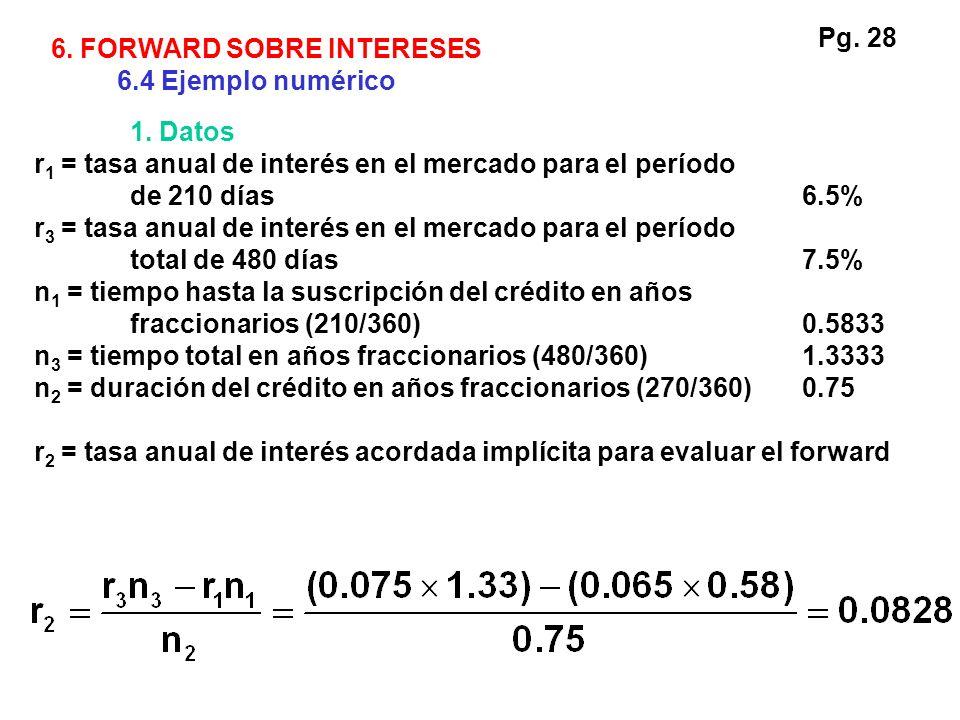 1. Datos r 1 = tasa anual de interés en el mercado para el período de 210 días6.5% r 3 = tasa anual de interés en el mercado para el período total de