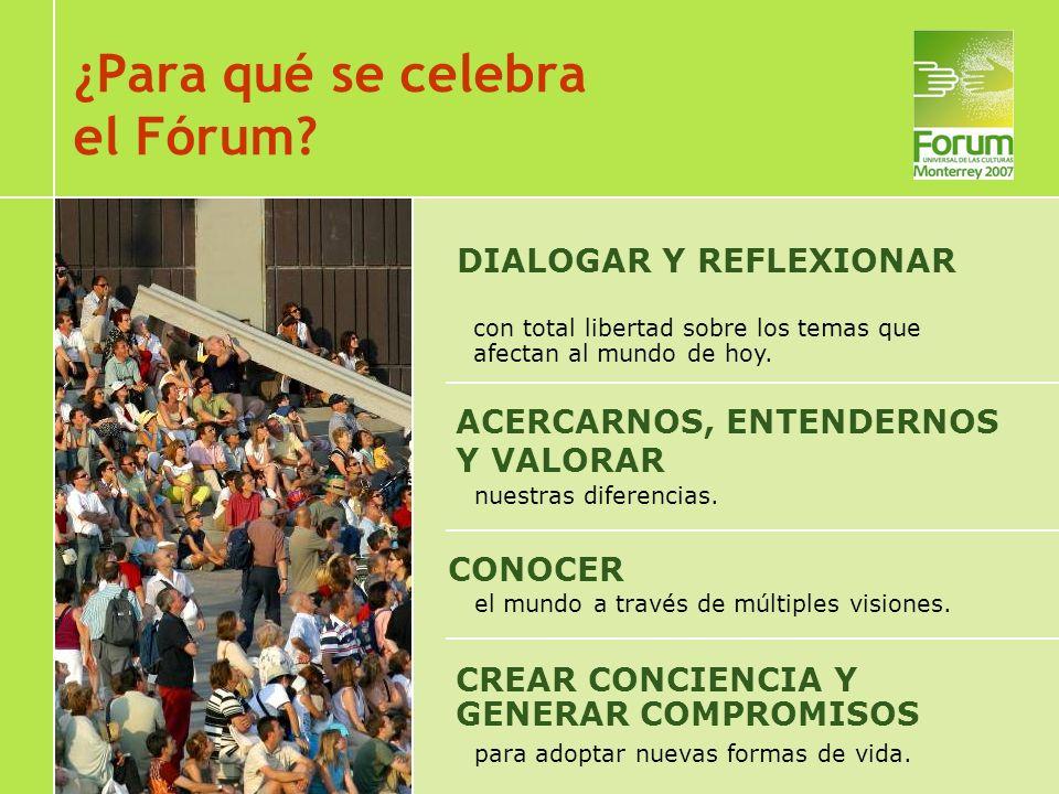 1996 Barcelona, España Creación de un nuevo ámbito de reflexión para CIUDADANOS Presentación del proyecto a la UNESCO: 1997 Firma de acuerdo marco: 1999 En 2004 se celebra el Primer Fórum Universal de las Culturas en Barcelona ¿Cómo nace el Fórum?