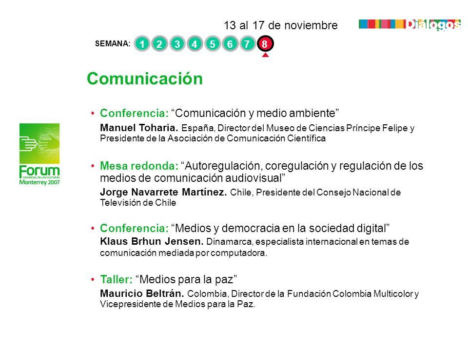 Comunicación Conferencia: Comunicación y medio ambiente Manuel Toharia. España, Director del Museo de Ciencias Príncipe Felipe y Presidente de la Asoc