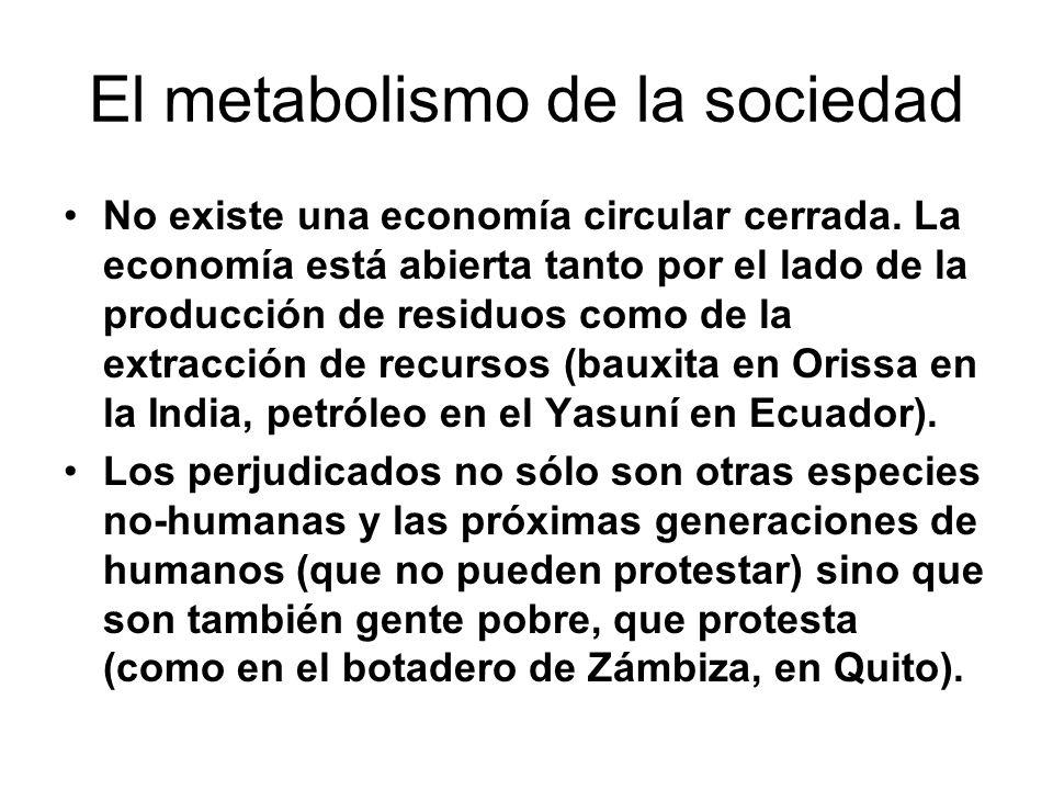 El metabolismo de la sociedad No existe una economía circular cerrada.