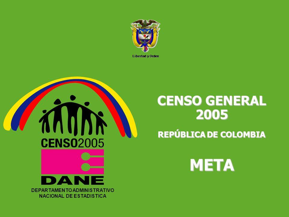DEPARTAMENTO ADMINISTRATIVO NACIONAL DE ESTADISTICA5 Libertad y Orden DEPARTAMENTO ADMINISTRATIVO NACIONAL DE ESTADISTICA CENSO GENERAL 2005 REPÚBLICA