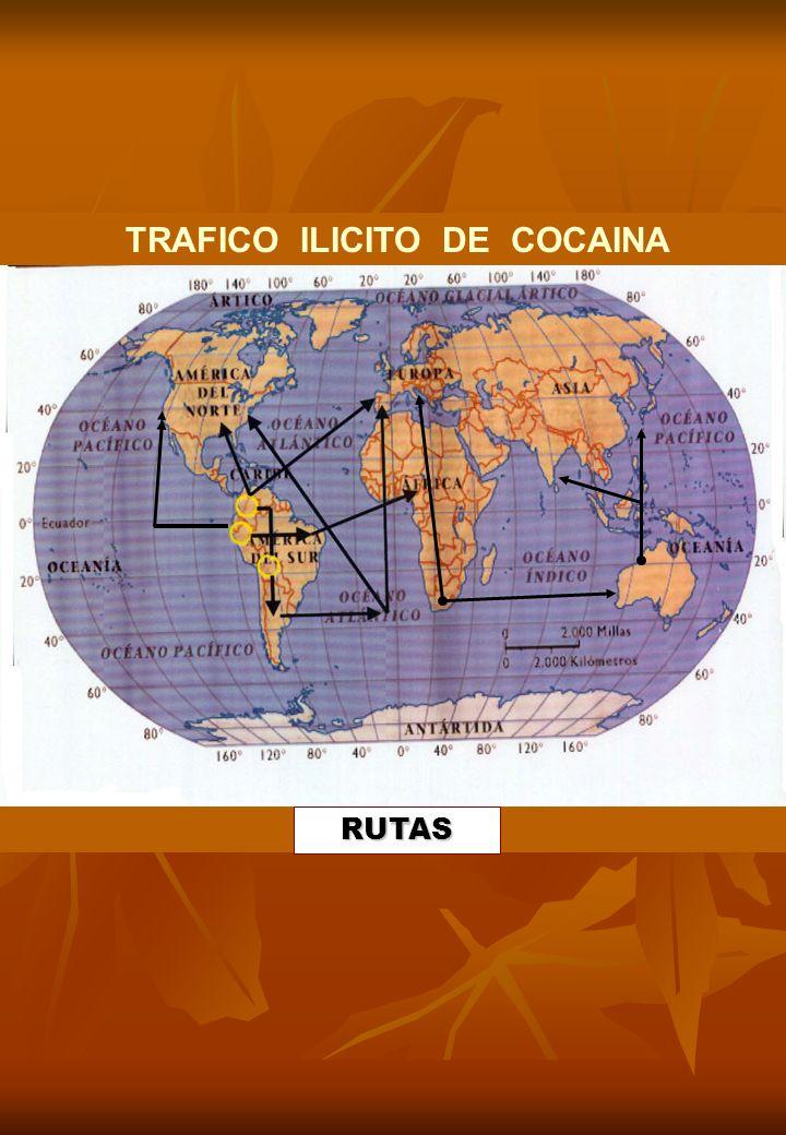 TRAFICO ILICITO DE COCAINA RUTAS