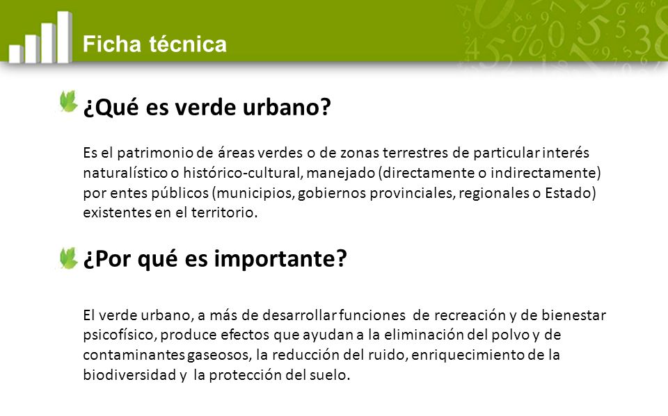 ¿Qué es verde urbano.