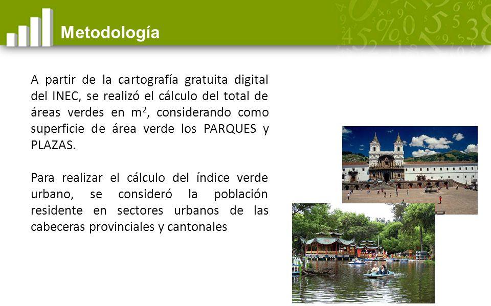 Índice verde urbano de Ecuador: Existe un déficit de 4,31 puntos Fuente: INEC - VII Censo de población y VI de vivienda 2010, Cartografía digital 2010