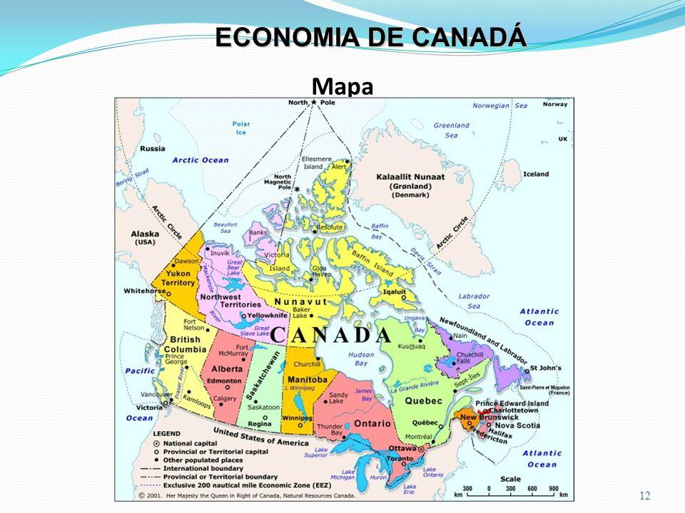 Mapa 12 ECONOMIA DE CANADÁ