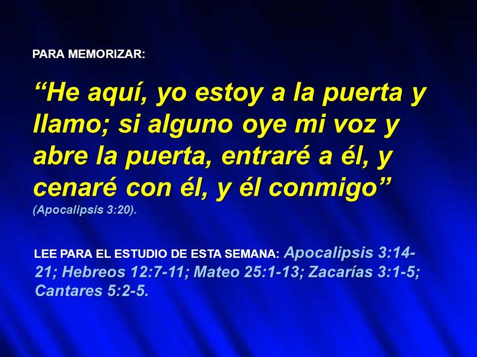 LAODICEA ES LA ÚLTIMA de las siete iglesias del Apoca- lipsis.