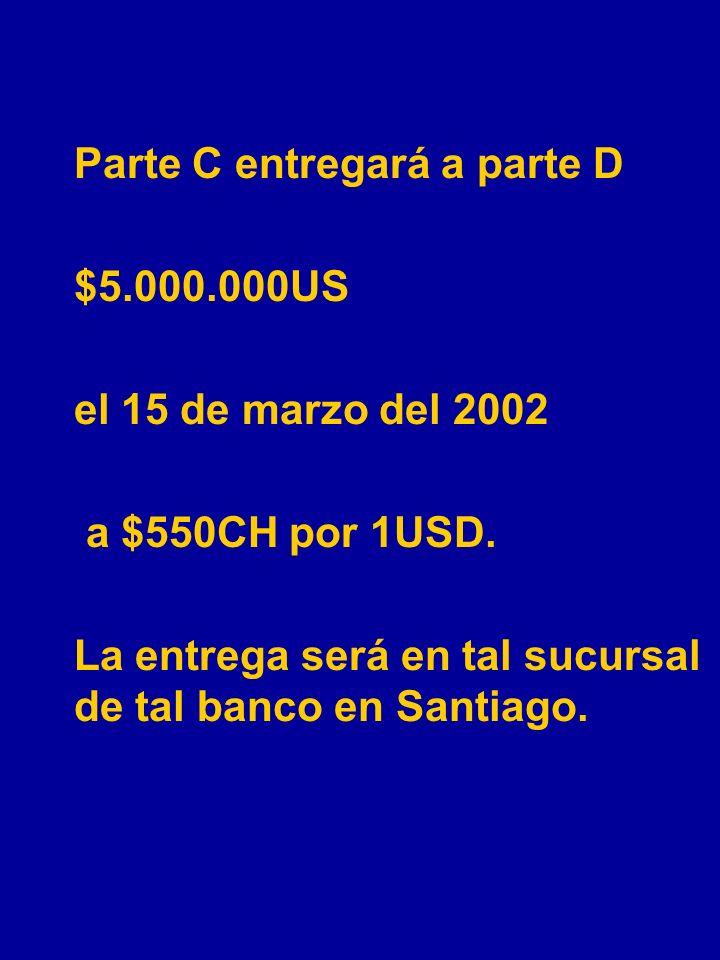 EJEMPLOS 1.Parte A (corta) entregará a parte B (larga) 50.000 barriles de petróleo dulce el 20 de febrero del 2002 a $20,50 por barril. La entrega ser