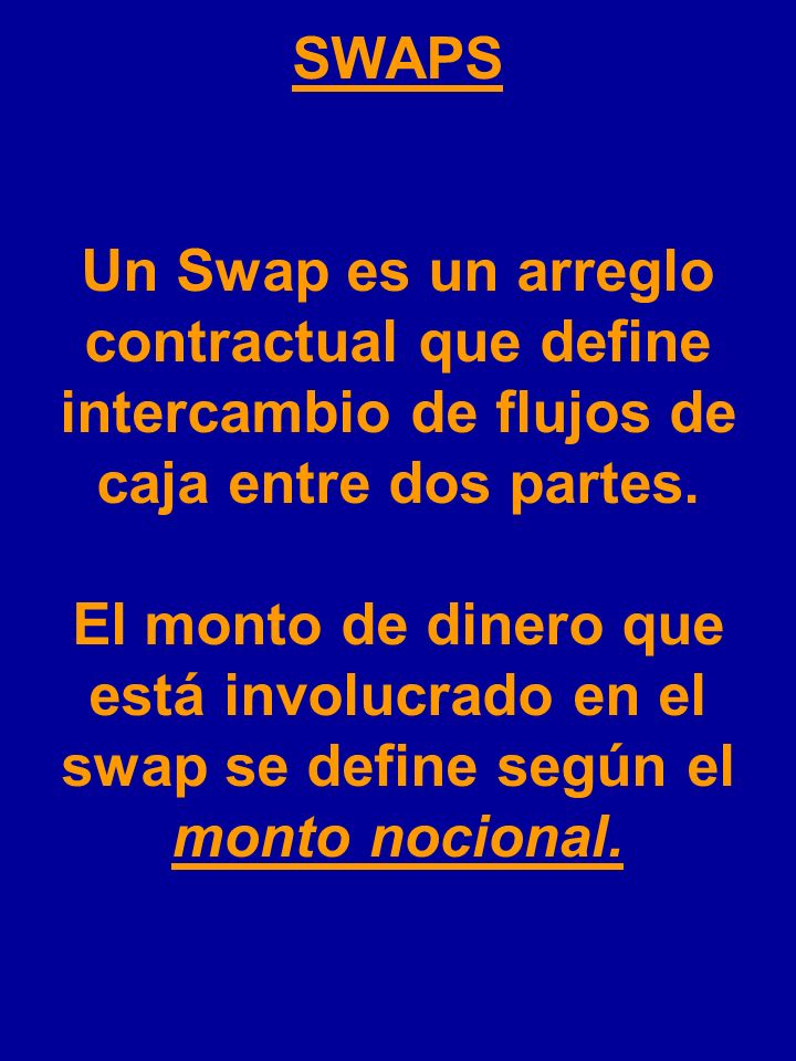 SWAPS 1.Swaps de tasas de interés Swaps de divisas Swaps de commodities