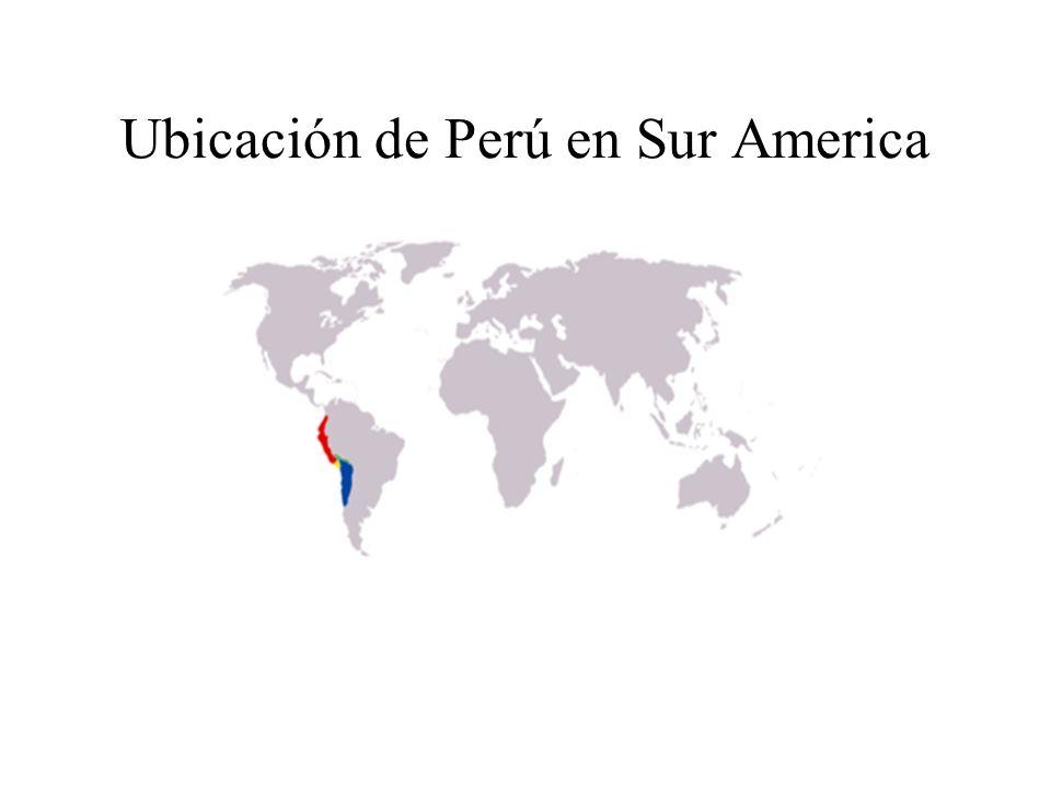 Ubicación de Perú en Sur America