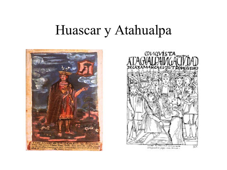 Huascar y Atahualpa