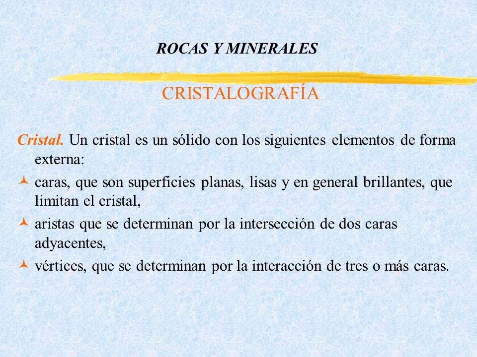 ROCAS Y MINERALES CRISTALOGRAFÍA Cristal.