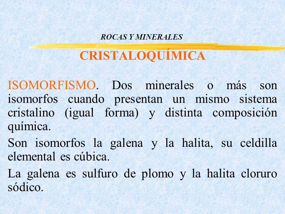 ROCAS Y MINERALES CRISTALOQUÍMICA ISOMORFISMO.