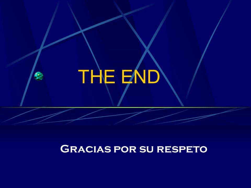 THE END Gracias por su respeto