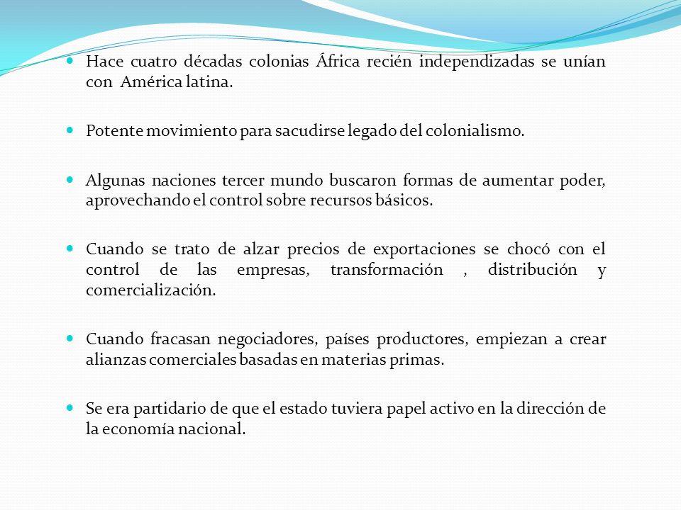 Hace cuatro décadas colonias África recién independizadas se unían con América latina.