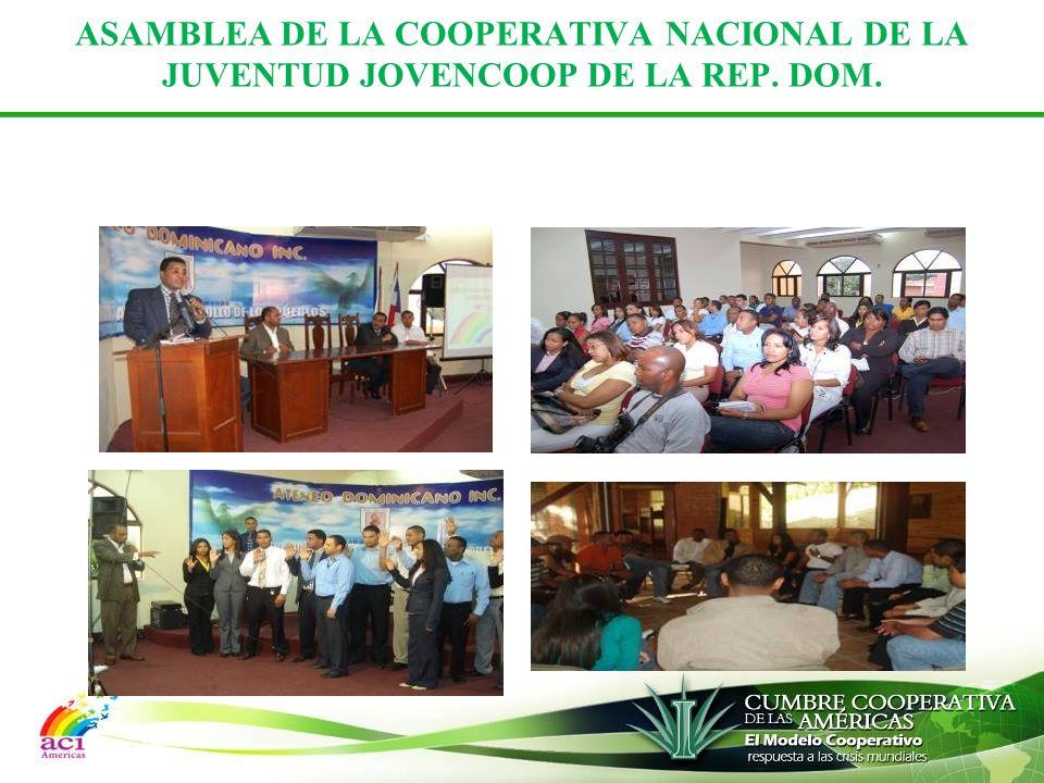 ASAMBLEA DE LA COOPERATIVA NACIONAL DE LA JUVENTUD JOVENCOOP DE LA REP. DOM.