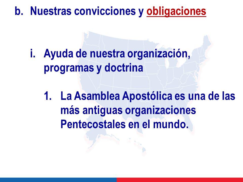 b.Nuestras convicciones y obligaciones i.