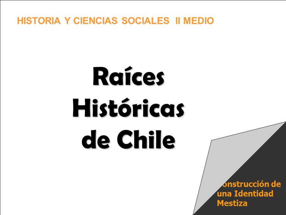Construcción de una Identidad Mestiza Raíces Históricas de Chile HISTORIA Y CIENCIAS SOCIALES II MEDIO