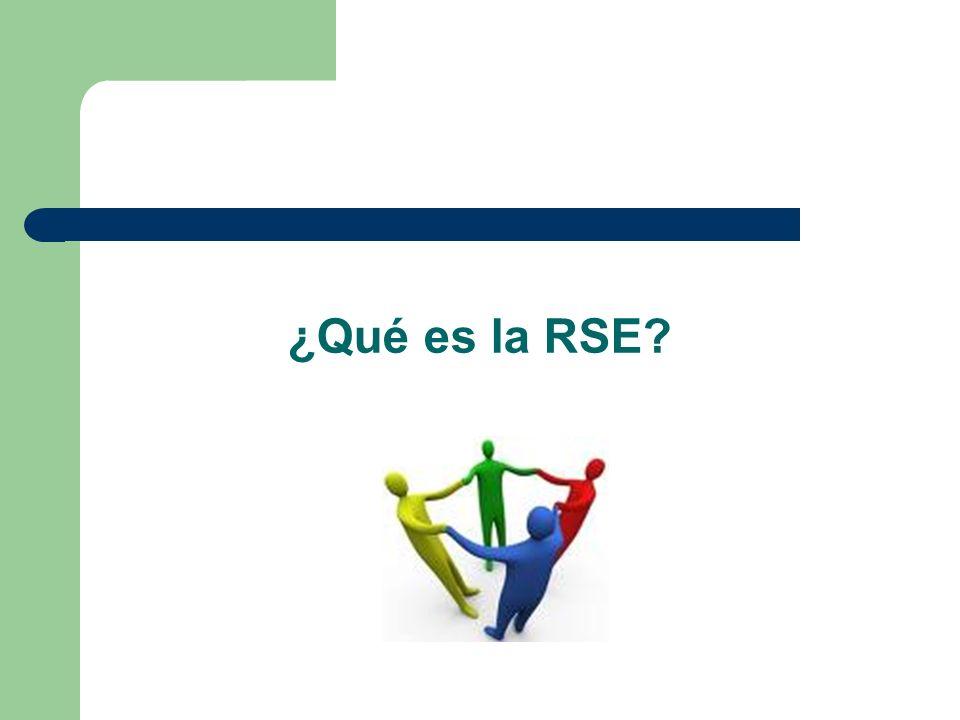 ¿Qué es la RSE?