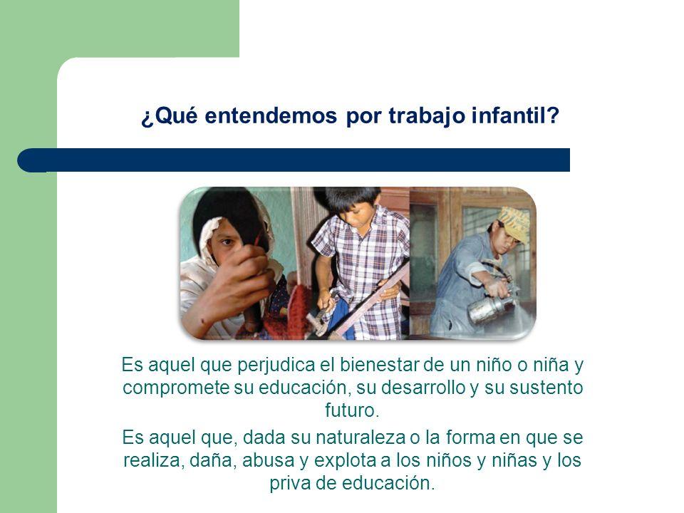 Es aquel que perjudica el bienestar de un niño o niña y compromete su educación, su desarrollo y su sustento futuro. Es aquel que, dada su naturaleza