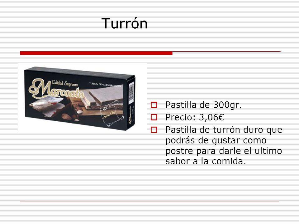 Turrón Pastilla de 300gr.