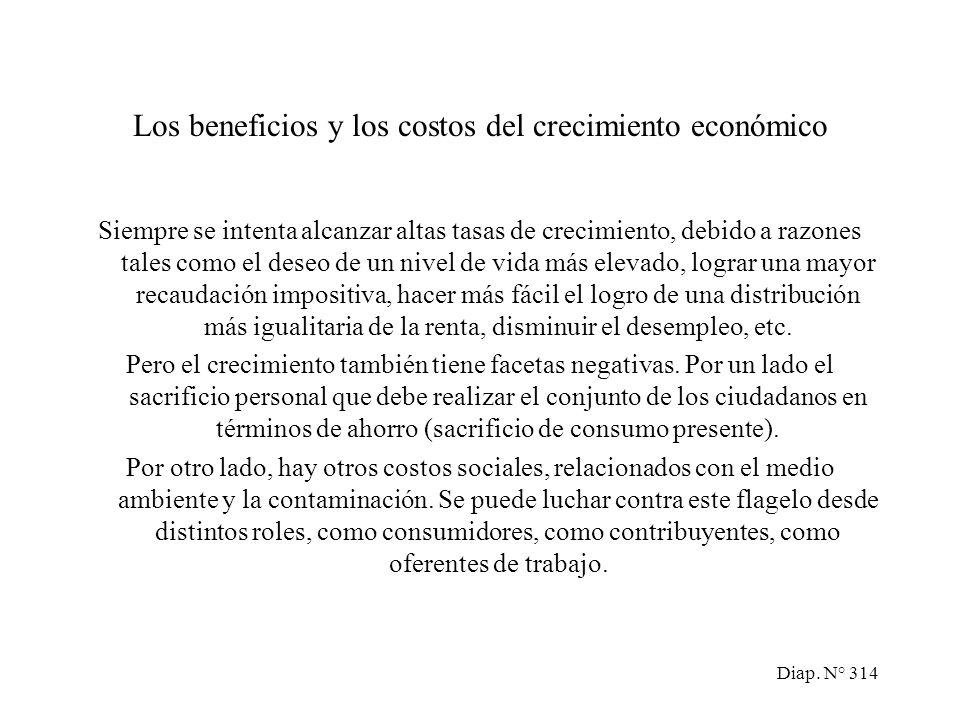 Diap. N° 313 Reordenando términos en III: Variación de la Propensión media producción total al ahorro = Producción Relación total capital/producto De
