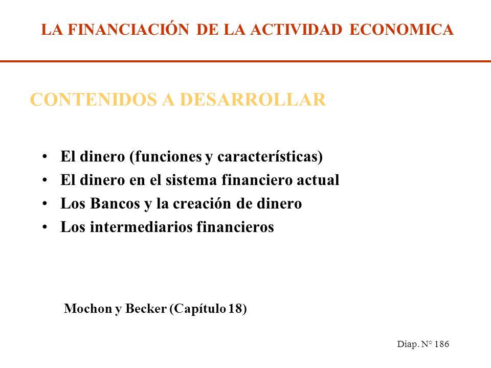 Diap. N° 185 Financiación de la actividad económica. Bibliografía Recomendada: MOCHON, Francisco y BEKER, Víctor A. Economía, Principios y Aplicacione