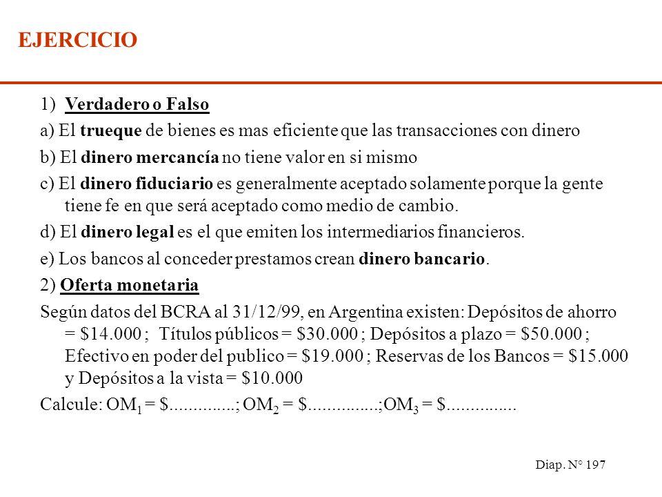 Diap. N° 196 LOS INTERMEDIARIOS FINANCIEROS 2) Intermediarios financieros no monetarios Se caracterizan por emitir activos financieros (pasivos para e