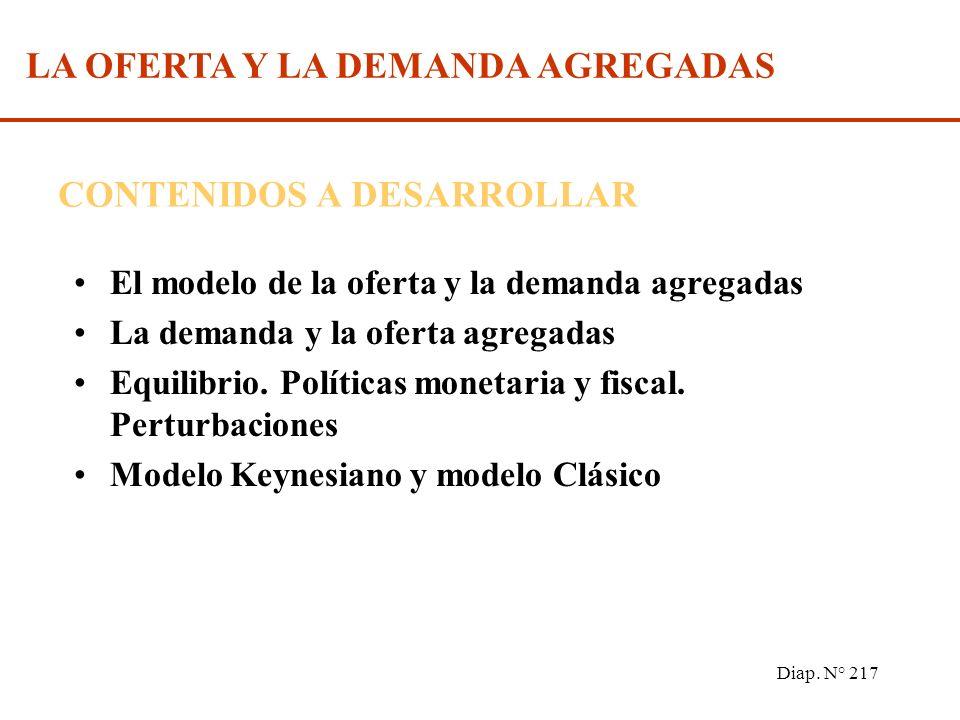Diap. N° 216 Oferta y demanda agregada. Bibliografía Recomendada: MOCHON, Francisco y BEKER, Víctor A. Economía, Principios y Aplicaciones (2º edición