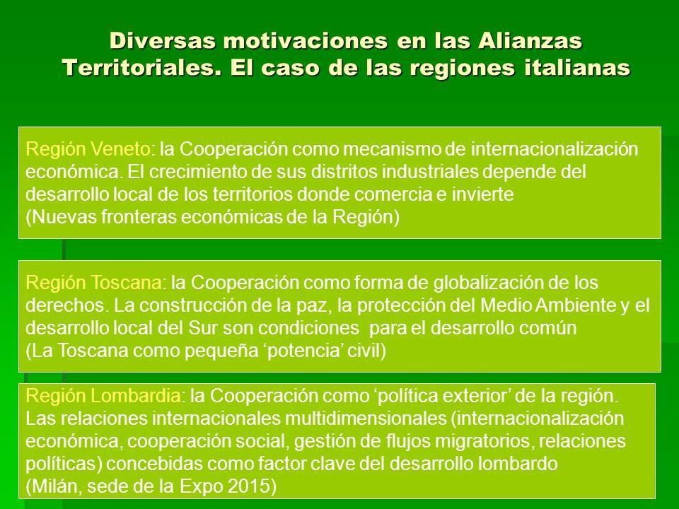 Diversas motivaciones en las Alianzas Territoriales.