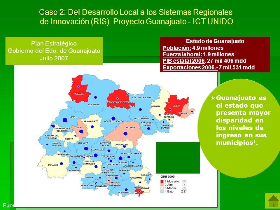 Guanajuato es el estado que presenta mayor disparidad en los niveles de ingreso en sus municipios 1.