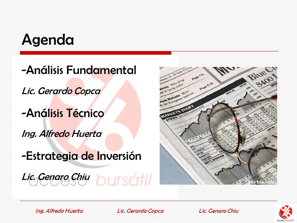 Ing.Alfredo HuertaLic. Genaro ChiuLic. Gerardo Copca EL NASDAQ...