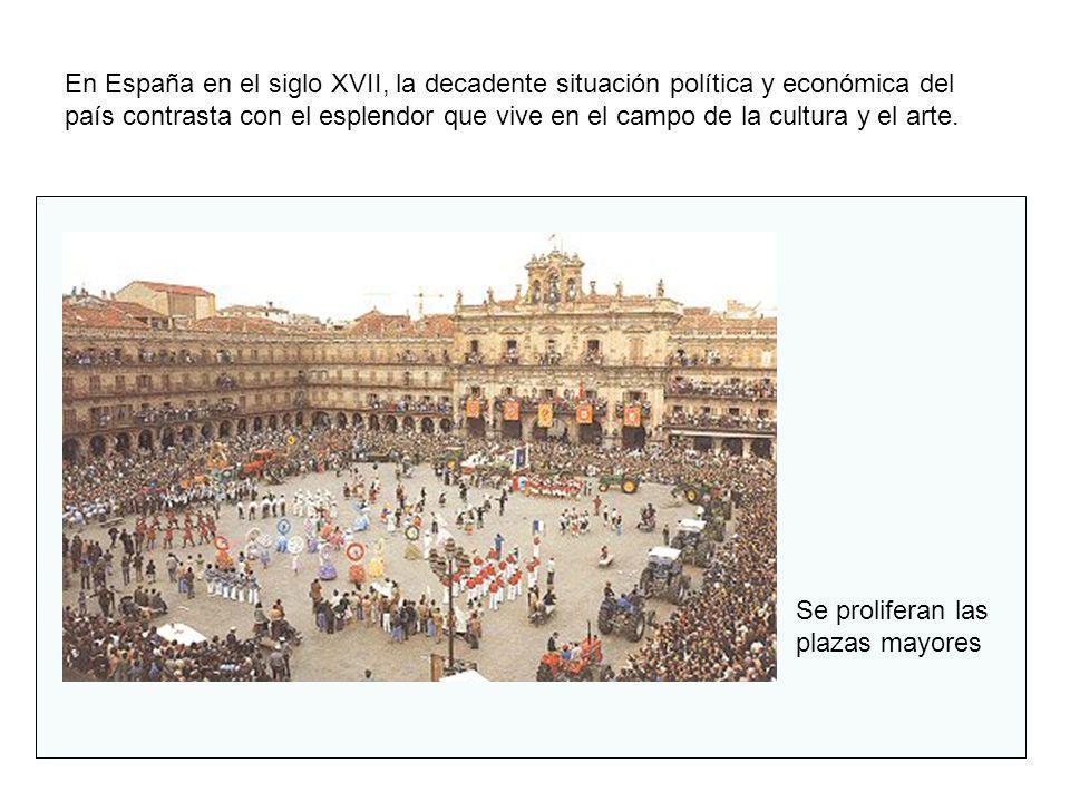 En España en el siglo XVII, la decadente situación política y económica del país contrasta con el esplendor que vive en el campo de la cultura y el ar